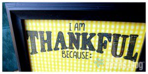 I am thankful because