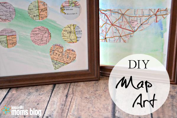 on diy map art