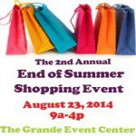 2nd Annual End of Summer Shopping Event-August 23rd! {Sponsored Post}