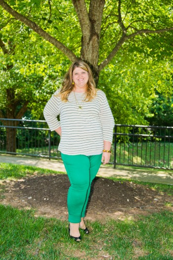 Green Skinnies Outfit One