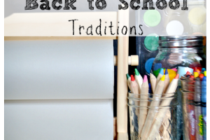 back to school traditions with logo