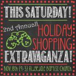 Holiday Shopping Extravaganza – THIS SATURDAY! {Giveaway}