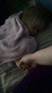 sleeping evy
