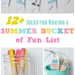 Ideas for Making a Summer Bucket of Fun List and a FREE Printable