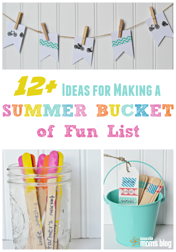 ideas for making a summer bucket of fun list
