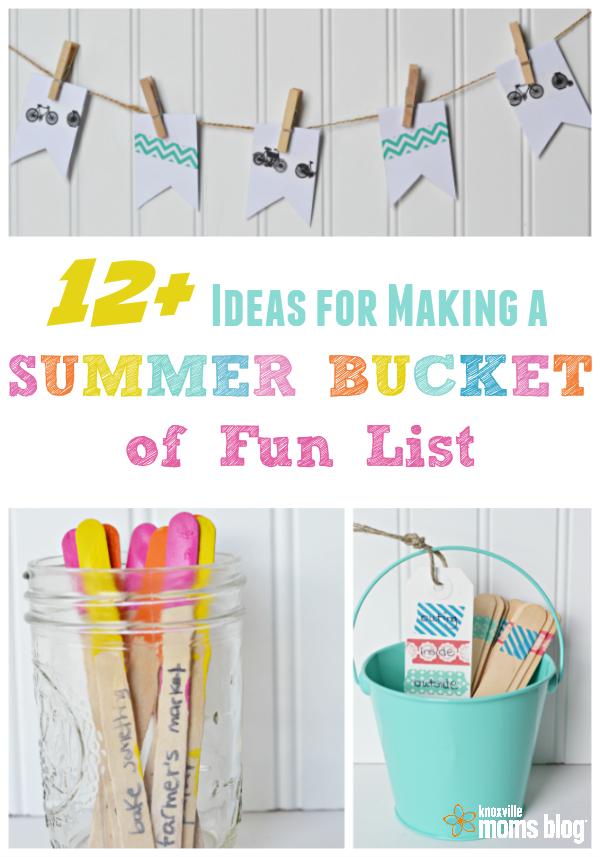 ideas for making a summer bucket of fun list