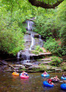 Deep Creek: Great stay-cation.  Three waterfalls to hike!