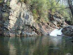 """Paint Creek: Cliff and """"waterfall"""""""
