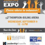 Inaugural Volunteer Knoxville Expo on September 9th