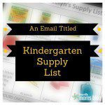 "An Email Titled ""Kindergarten Supply List"""