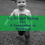 No, He Isn't Walking Yet: A Commentary on Milestones