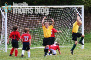 Where his love of all things sports began - Saturday mornings on the soccer field.