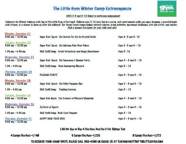 little gym winter camps
