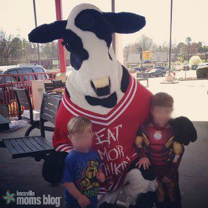 Seeing the Chick-fil-A cow always makes our day!