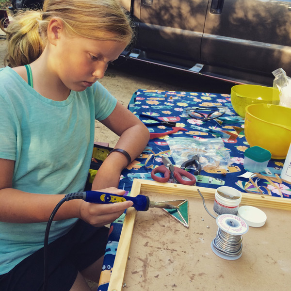 learning stained glass