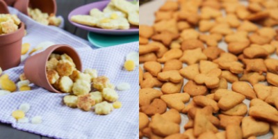 Carrot Cheddar Crackers and Whole Wheat & Cheddar Mini Crackers
