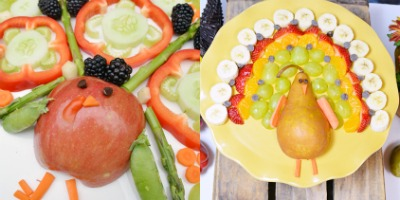 Turkey Fruit & Veggie Platter
