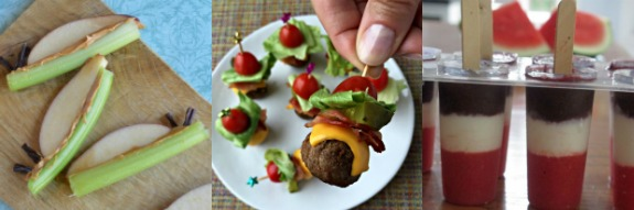Slimy Snail Snacks, Bacon Cheeseburger Meatballs, and Watermelon Popsicles