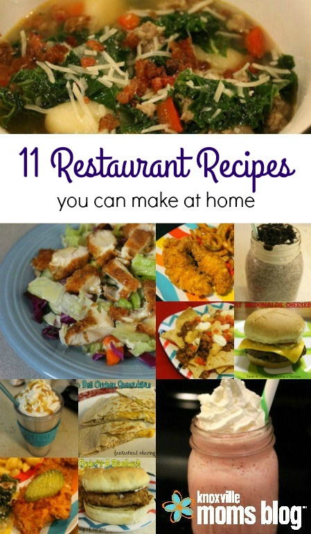 11 Restaurant Recipes You Can Make at Home // Knoxville Moms Blog #recipes #copycats #food