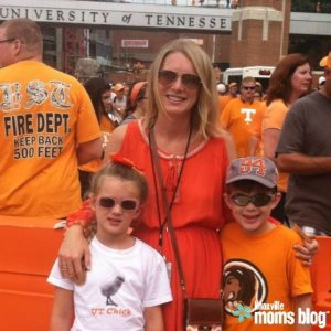 Gameday with my oldest two in 2014. My son was 7, and my daughter was 6.