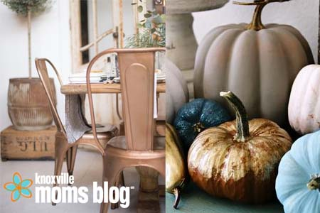 Image via emily a clark and perfectly imperfect chalk paint by annie sloan and metallic foil on craft pumpkins make an impact that can be used year