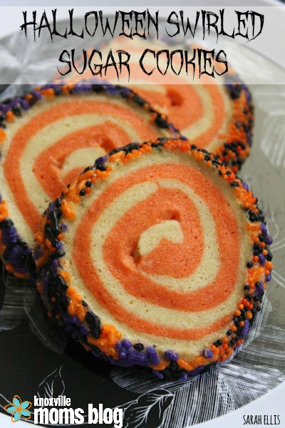 Halloween Swirled Sugar Cookies // These festive sugar cookies are super easy to make // Knoxville Moms Blog