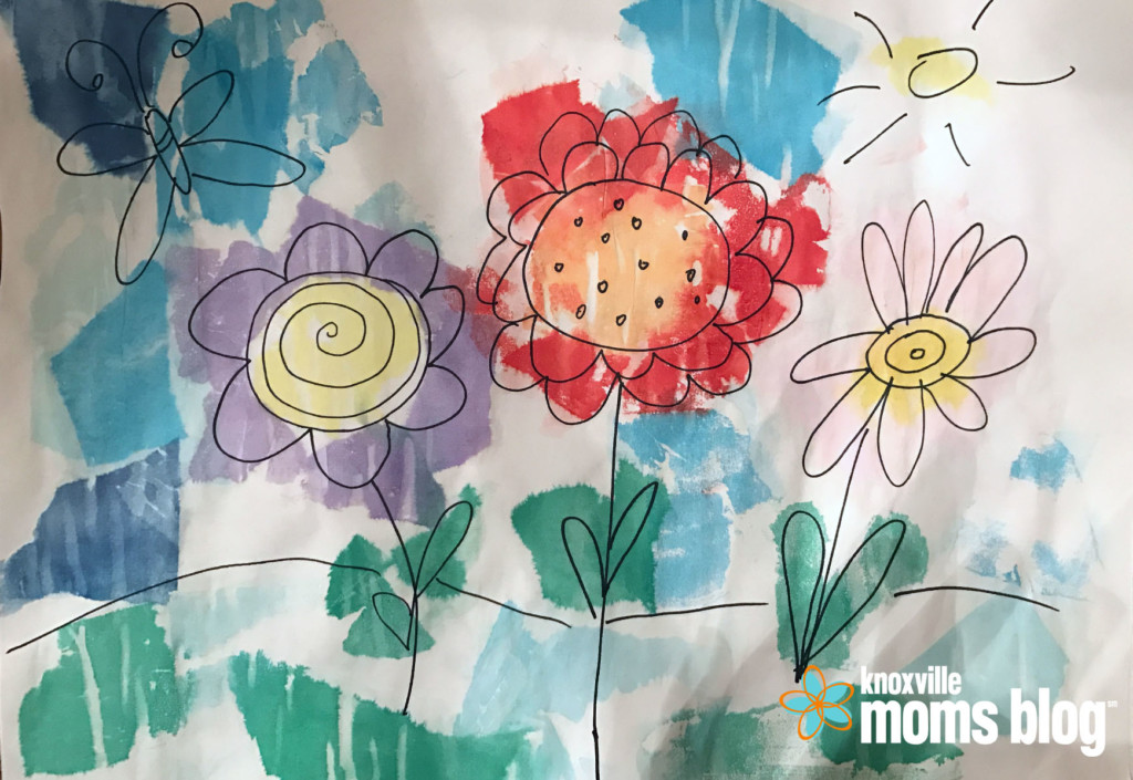 Spring craft painting with tissue paper creating art together is a rewarding experience mightylinksfo