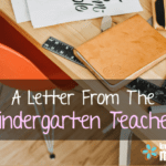 A Letter from the Kindergarten Teacher