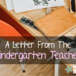 A Letter from the Kindergarten Teacher