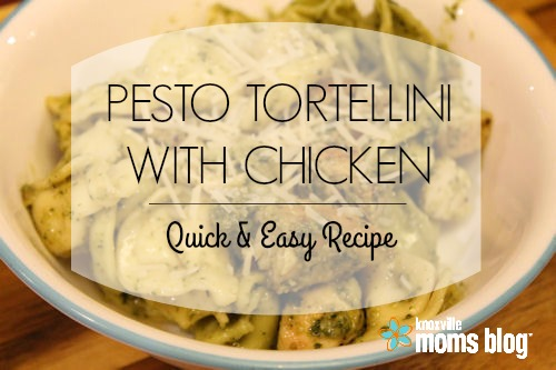 This quick and easy Pesto Tortellini with Chicken is the perfect recipe for a busy night! #kmb #recipe #chicken #easyrecipe #quickrecipe