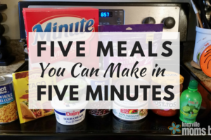 Five Meals You Can Make in Five Minutes
