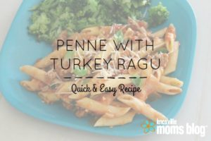 penne with turkey ragu hero