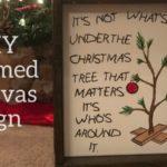 DIY Framed Canvas Sign