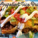5-Ingredient Taco Braid {Quick & Easy Recipe}