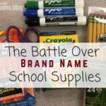 Generic vs. Brand Name School Supplies