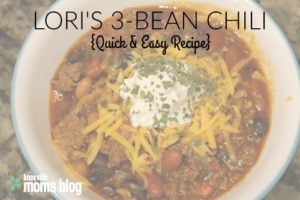 lori's 3 bean chili quick and easy weeknight recipe hero