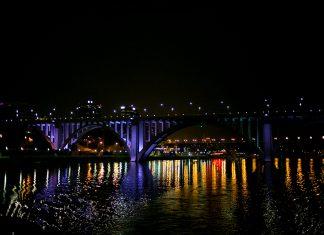Henley Bridge at Night