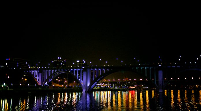 Henley Bridge at Night