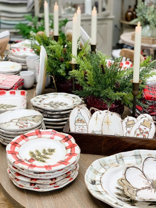 {Shopping local provides the community with unique offerings that can't be found at big box stores and online retailers. Small shops shop small too! They love finding local makers to support. Featured Etta B Pottery at The Back Porch Mercantile in Knoxville, TN.}
