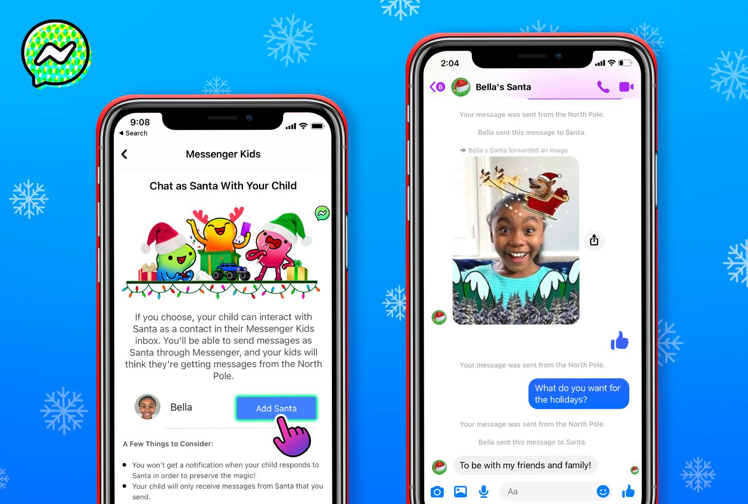Messenger Kids Santa 2020